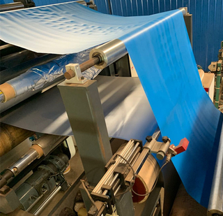 Double side hot melt laminating production line for Steel coil with Plastic film